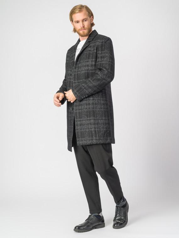 Текстильное пальто 51% п/э,49%шерсть, цвет черный, арт. 18007547  - цена 5890 руб.  - магазин TOTOGROUP