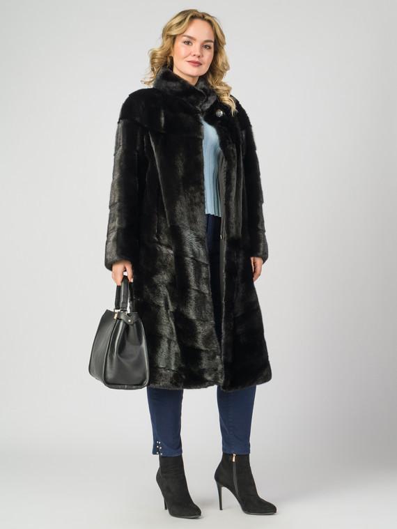 Шуба из норки мех норка, цвет черный, арт. 18007550  - цена 67990 руб.  - магазин TOTOGROUP