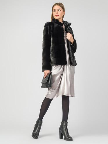 Шуба из норки мех норка, цвет черный, арт. 18007555  - цена 47490 руб.  - магазин TOTOGROUP