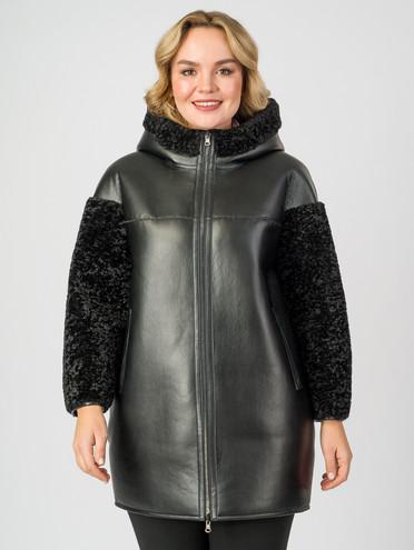 Дубленка эко-кожа 100% П/А, цвет черный, арт. 18007565  - цена 7490 руб.  - магазин TOTOGROUP