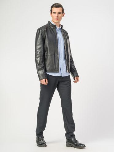 Кожаная куртка кожа , цвет черный, арт. 18106151  - цена 7990 руб.  - магазин TOTOGROUP