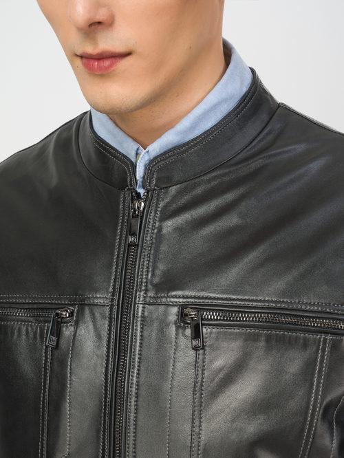 Кожаная куртка артикул 18106153/46 - фото 4
