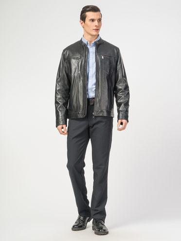 Кожаная куртка кожа , цвет черный, арт. 18106153  - цена 9990 руб.  - магазин TOTOGROUP