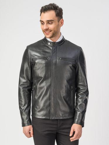 Кожаная куртка кожа , цвет черный, арт. 18106157  - цена 8990 руб.  - магазин TOTOGROUP