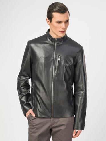 Кожаная куртка кожа , цвет черный, арт. 18106158  - цена 8490 руб.  - магазин TOTOGROUP