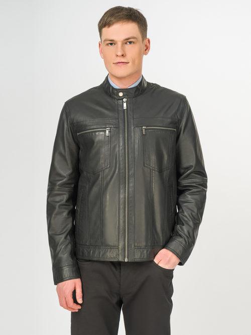Кожаная куртка артикул 18106171/54 - фото 2