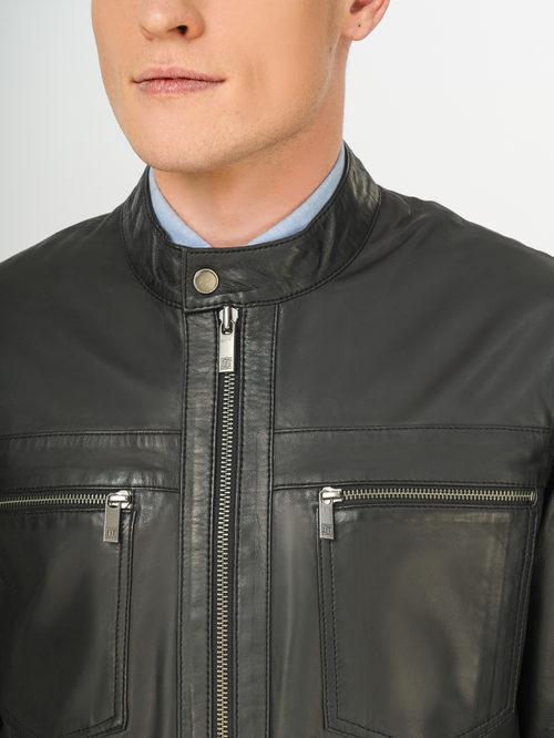 Кожаная куртка артикул 18106171/54 - фото 4