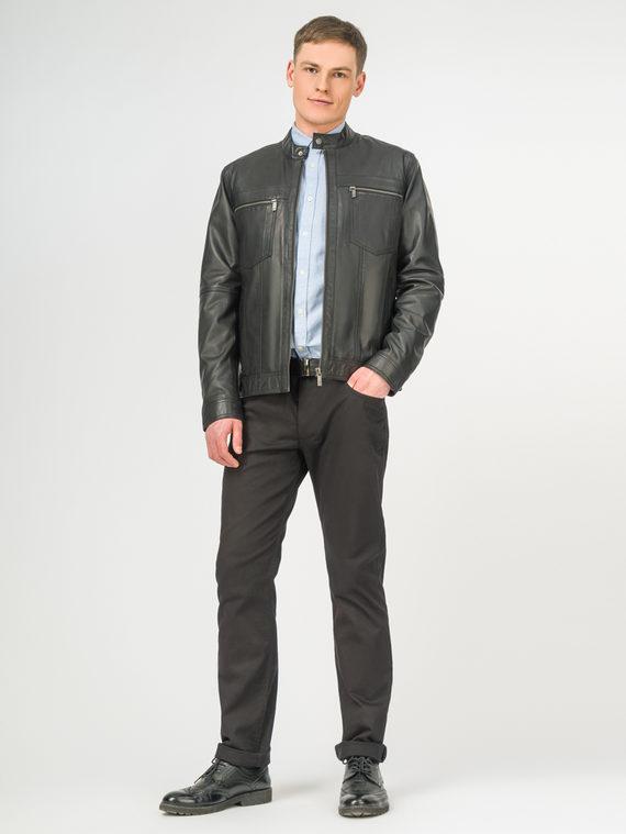 Кожаная куртка кожа, цвет черный, арт. 18106171  - цена 7990 руб.  - магазин TOTOGROUP