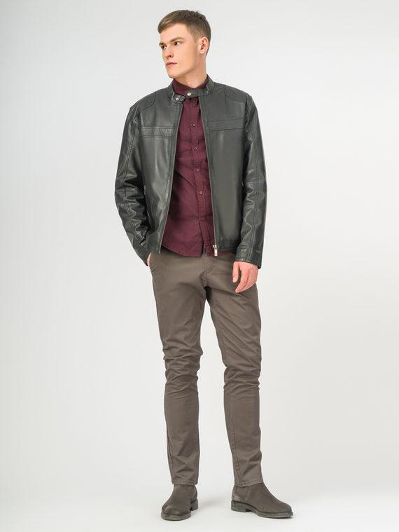 Кожаная куртка кожа, цвет черный, арт. 18106173  - цена 7990 руб.  - магазин TOTOGROUP