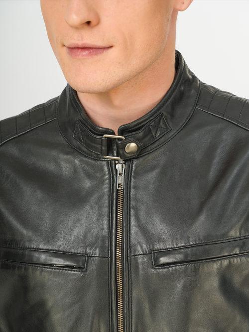 Кожаное пальто артикул 18106177/54 - фото 4