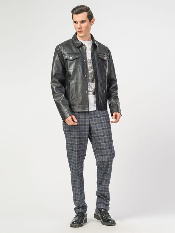 Кожаная куртка кожа , цвет черный, арт. 18106179  - цена 11290 руб.  - магазин TOTOGROUP