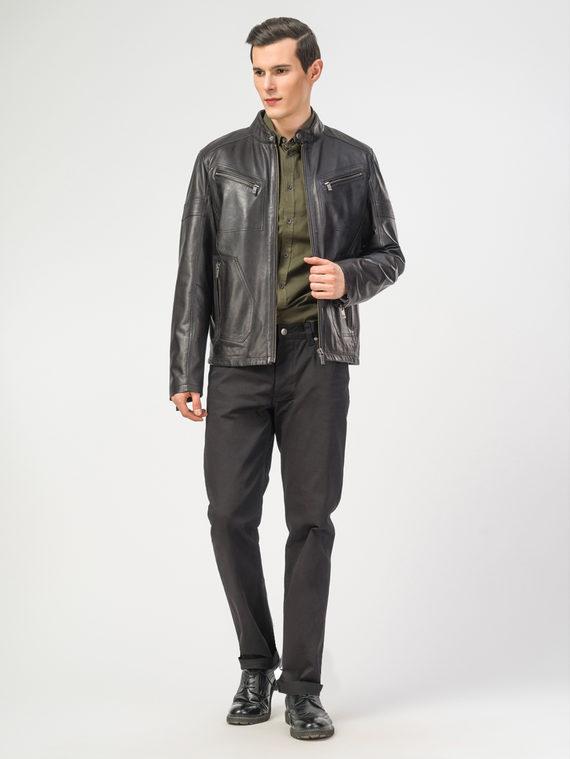 Кожаная куртка кожа , цвет черный, арт. 18106195  - цена 11990 руб.  - магазин TOTOGROUP