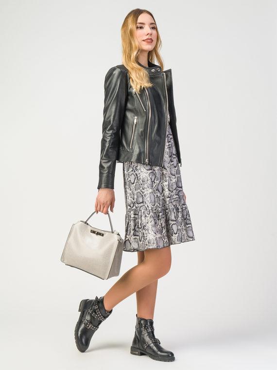 Кожаная куртка кожа , цвет черный, арт. 18106202  - цена 11990 руб.  - магазин TOTOGROUP