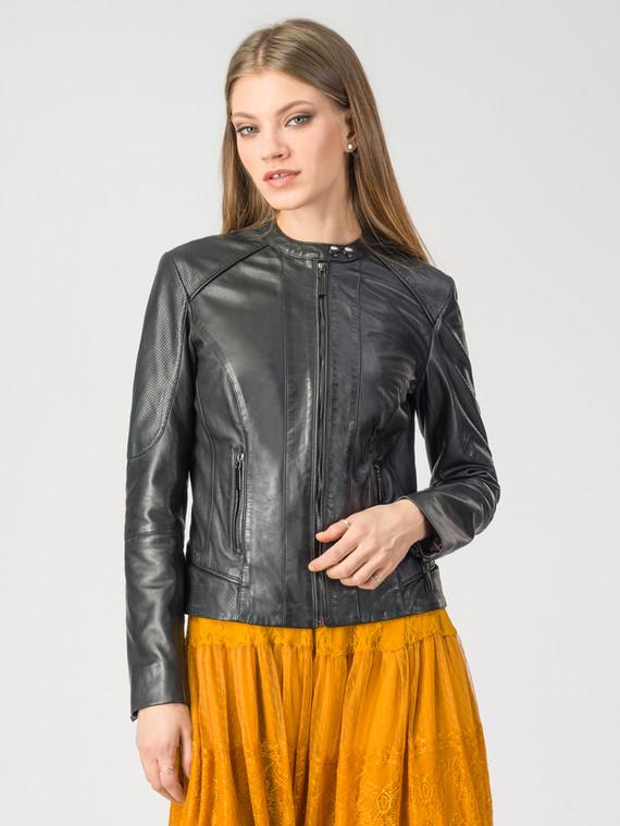 Кожаная куртка кожа , цвет черный, арт. 18106212  - цена 6990 руб.  - магазин TOTOGROUP