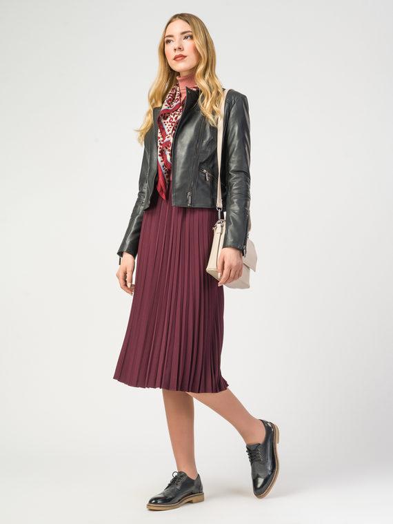 Кожаная куртка кожа , цвет черный, арт. 18106218  - цена 7990 руб.  - магазин TOTOGROUP