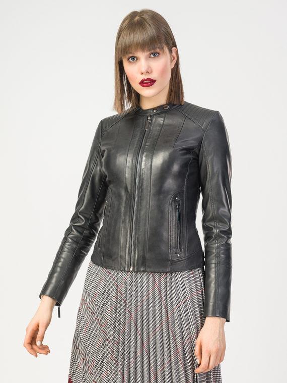 Кожаная куртка кожа , цвет черный, арт. 18106220  - цена 11990 руб.  - магазин TOTOGROUP