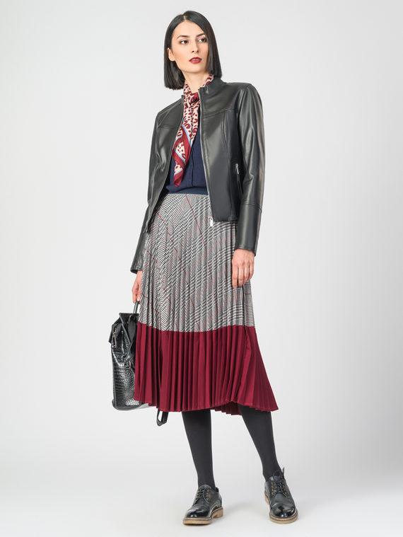 Кожаная куртка кожа , цвет черный, арт. 18106243  - цена 7490 руб.  - магазин TOTOGROUP