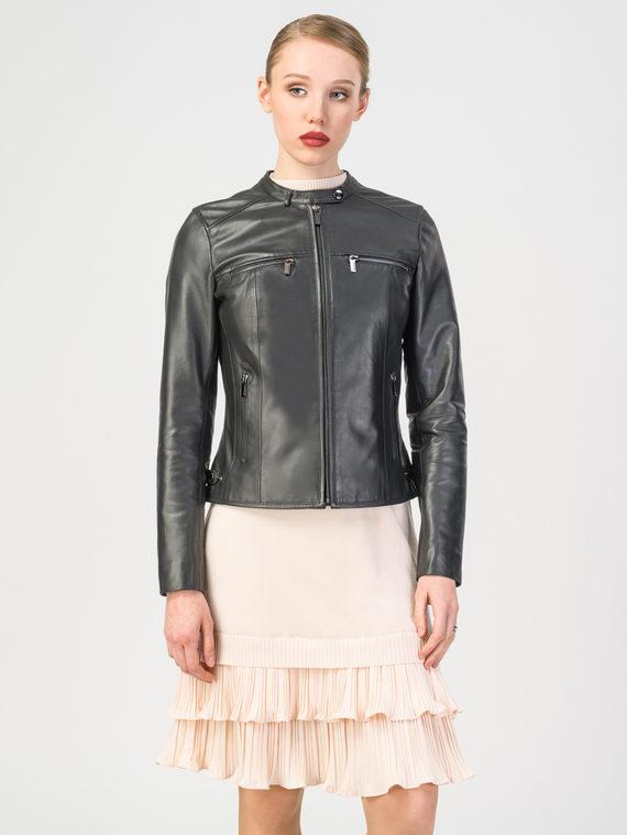 Кожаная куртка кожа , цвет черный, арт. 18106250  - цена 9490 руб.  - магазин TOTOGROUP