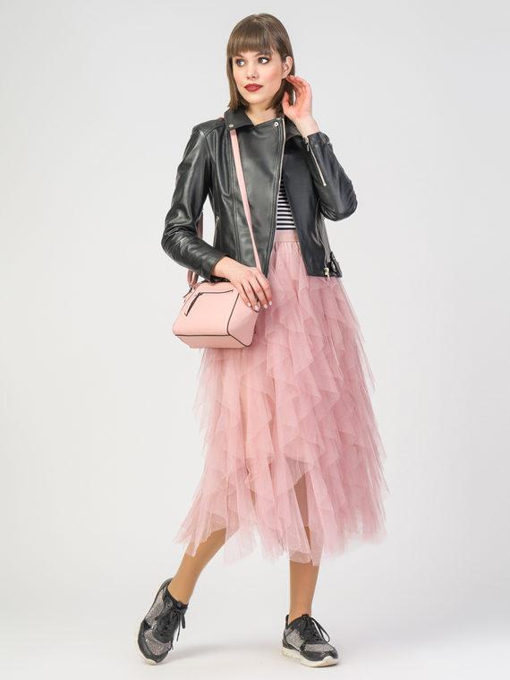 Кожаная куртка кожа , цвет черный, арт. 18106255  - цена 10590 руб.  - магазин TOTOGROUP