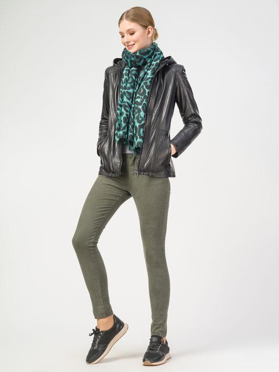 Кожаная куртка кожа , цвет черный, арт. 18106256  - цена 10590 руб.  - магазин TOTOGROUP