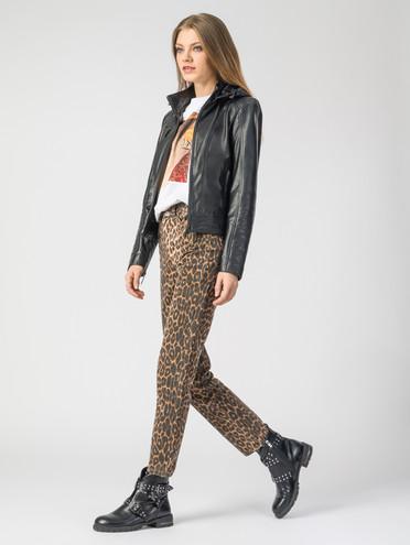 Кожаная куртка кожа , цвет черный, арт. 18106258  - цена 7990 руб.  - магазин TOTOGROUP