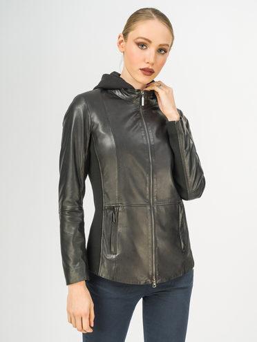 Кожаная куртка кожа , цвет черный, арт. 18106260  - цена 9990 руб.  - магазин TOTOGROUP