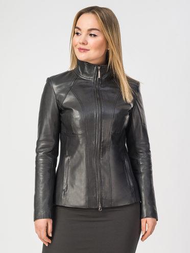 Кожаная куртка кожа , цвет черный, арт. 18106265  - цена 8490 руб.  - магазин TOTOGROUP