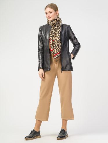Кожаная куртка кожа , цвет черный, арт. 18106272  - цена 10590 руб.  - магазин TOTOGROUP