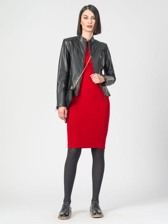 Кожаная куртка кожа , цвет черный, арт. 18106274  - цена 9490 руб.  - магазин TOTOGROUP