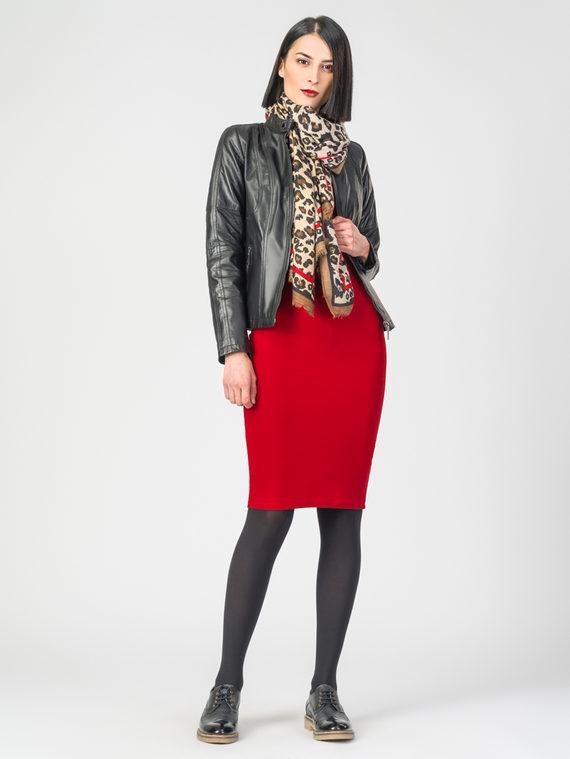 Кожаная куртка кожа , цвет черный, арт. 18106277  - цена 11990 руб.  - магазин TOTOGROUP