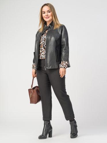 Кожаная куртка кожа , цвет черный, арт. 18106288  - цена 9990 руб.  - магазин TOTOGROUP