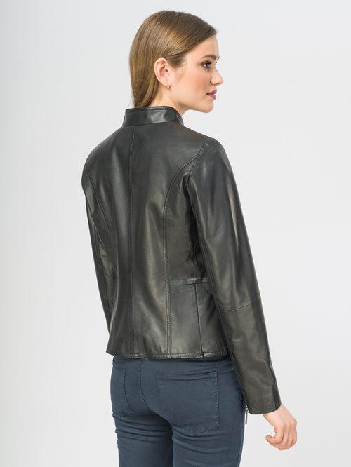 Кожаная куртка артикул 18106297/44 - фото 3