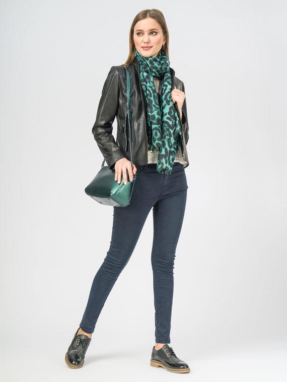 Кожаная куртка кожа , цвет черный, арт. 18106297  - цена 11290 руб.  - магазин TOTOGROUP