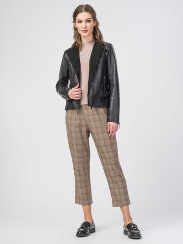 Кожаная куртка кожа , цвет черный, арт. 18106307  - цена 9490 руб.  - магазин TOTOGROUP
