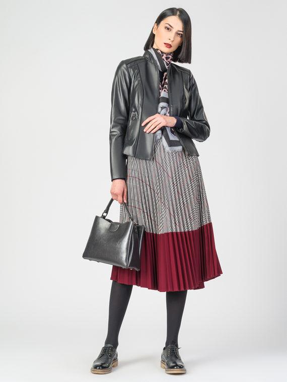 Кожаная куртка кожа , цвет черный, арт. 18106314  - цена 10590 руб.  - магазин TOTOGROUP