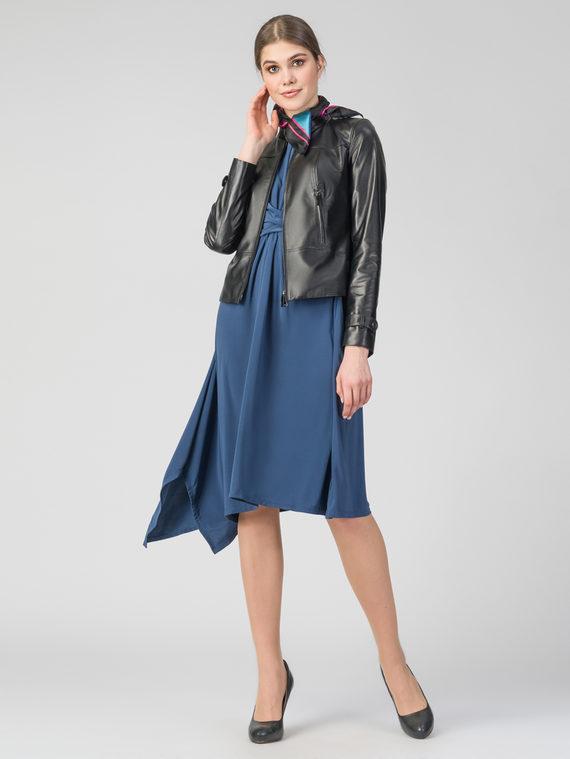 Кожаная куртка кожа , цвет черный, арт. 18106321  - цена 12690 руб.  - магазин TOTOGROUP