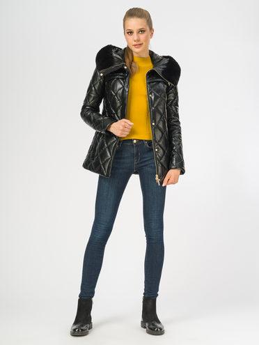 Кожаная куртка эко-кожа 100% П/А, цвет черный металлик, арт. 18107757  - цена 7490 руб.  - магазин TOTOGROUP