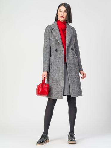 Текстильное пальто 30%шерсть, 70% п.э, цвет серый, арт. 18107817  - цена 4740 руб.  - магазин TOTOGROUP