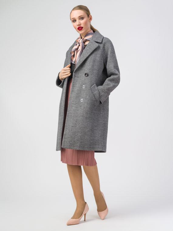 Текстильное пальто 30%шерсть, 70% п.э, цвет темно-серый, арт. 18107820  - цена 5590 руб.  - магазин TOTOGROUP