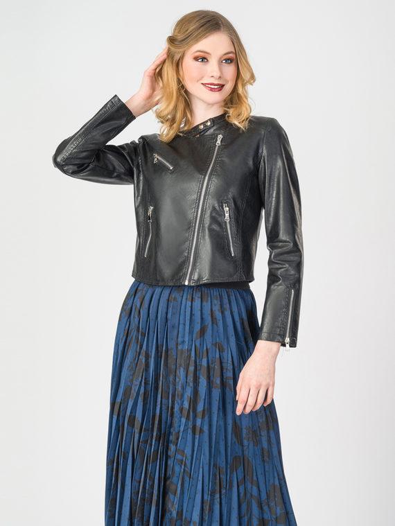 Кожаная куртка эко-кожа 100% П/А, цвет черный, арт. 18107827  - цена 3990 руб.  - магазин TOTOGROUP