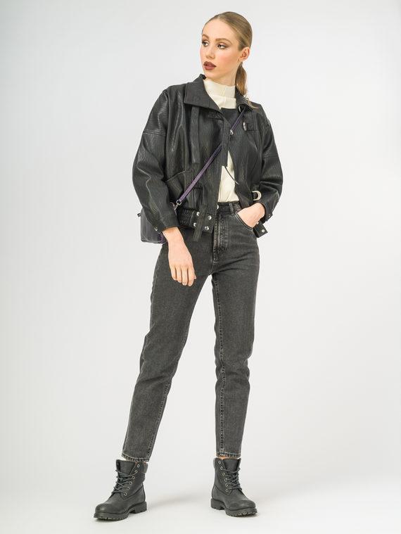 Кожаная куртка эко-кожа 100% П/А, цвет черный, арт. 18107828  - цена 2990 руб.  - магазин TOTOGROUP