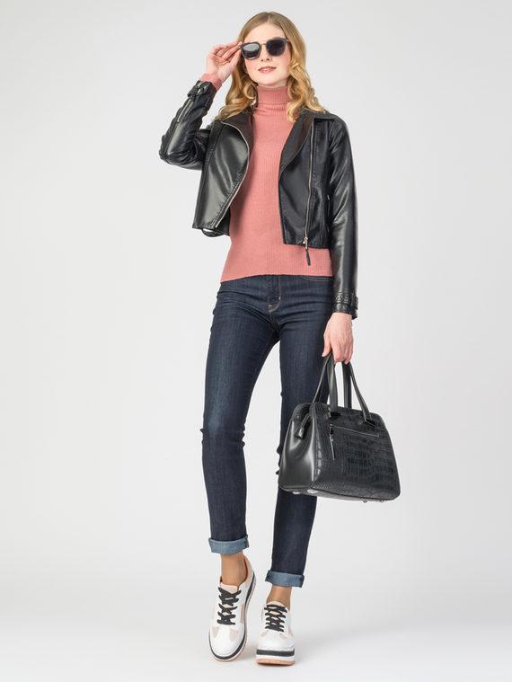 Кожаная куртка эко-кожа 100% П/А, цвет черный, арт. 18107832  - цена 3390 руб.  - магазин TOTOGROUP
