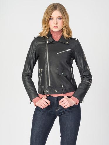 Кожаная куртка эко-кожа 100% П/А, цвет черный, арт. 18107833  - цена 3990 руб.  - магазин TOTOGROUP