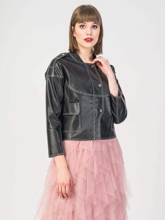 Кожаная куртка эко-кожа 100% П/А, цвет черный, арт. 18107836  - цена 3190 руб.  - магазин TOTOGROUP