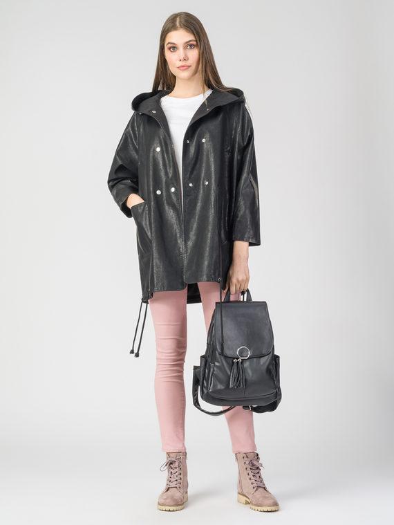 Кожаное пальто эко-кожа 100% П/А, цвет черный, арт. 18107837  - цена 5290 руб.  - магазин TOTOGROUP