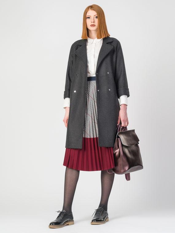 Текстильное пальто 30%шерсть, 70% п.э, цвет черный, арт. 18107923  - цена 3990 руб.  - магазин TOTOGROUP