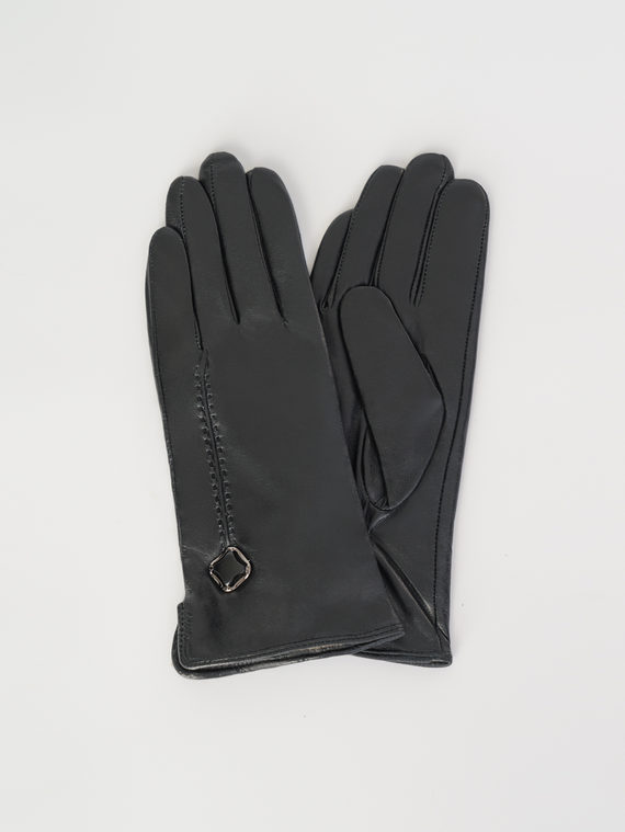 Перчатки кожа , цвет черный, арт. 18107953  - цена 840 руб.  - магазин TOTOGROUP