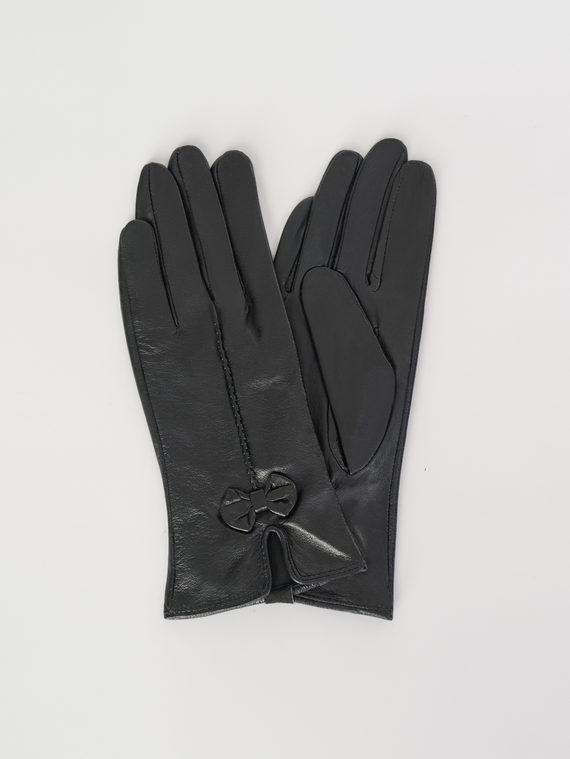 Перчатки кожа , цвет черный, арт. 18107955  - цена 690 руб.  - магазин TOTOGROUP