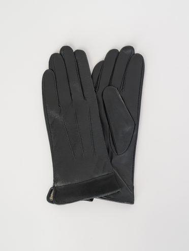 Перчатки кожа , цвет черный, арт. 18107958  - цена 790 руб.  - магазин TOTOGROUP