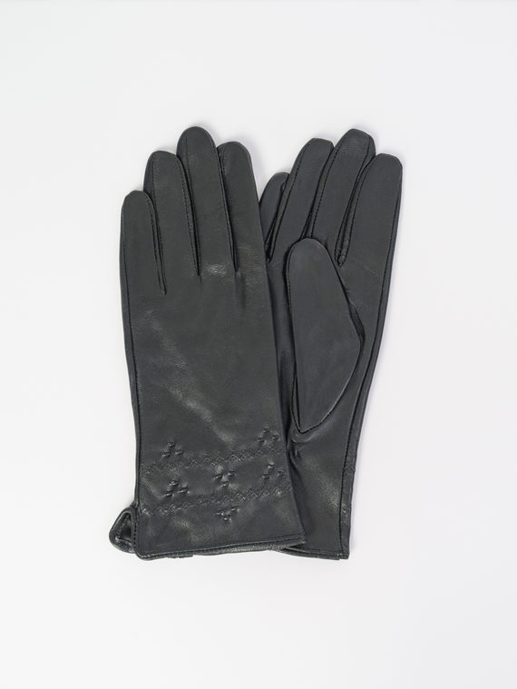 Перчатки кожа , цвет черный, арт. 18107959  - цена 840 руб.  - магазин TOTOGROUP